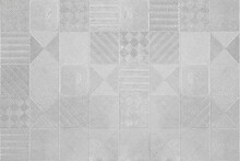 Pattern Of Gray Or Silver Tiles Texture Background