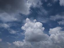 Big Fluffy Clouds In The Summer In Hanoi, Vietnam