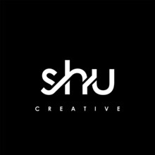 SHU Letter Initial Logo Design Template Vector Illustration