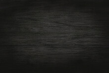 Black Grey Wooden Plank Wall Texture Background, Old Natural Pattern Of Dark Wood Grained.