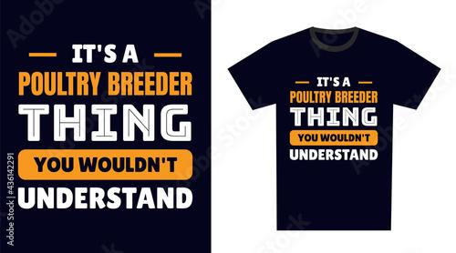 Slika na platnu poultry breeder T Shirt Design