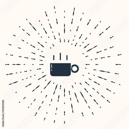 Grey Coffee cup icon isolated on beige background Fototapet