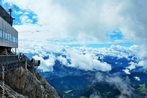 Fototapeta Austrian Alps-outlook of the observation deck to Dachstein