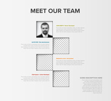 Meet Out Team Mosaic Presentation Template Page With Photos