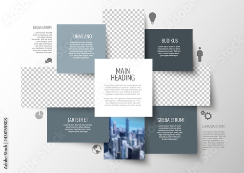 Fotografia Multipurpose infographic template with photo placeholder