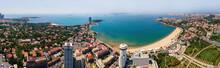 Aerial Panorama Of Qingdao Huiquan Bay