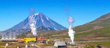 The Geothermal Power Station Alternative Energy On Kamchatka Peninsula