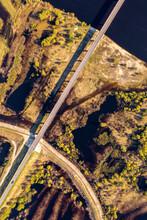 Road Through Wetlands Aerial