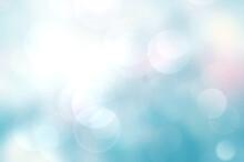 Light Blue Blurred Abstract Bokeh Background.Sky Gradient Wallpaper Illustration.Romantic Concept Backdrop.