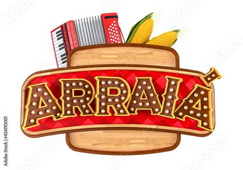 Canvastavla Label for Brazilian June party