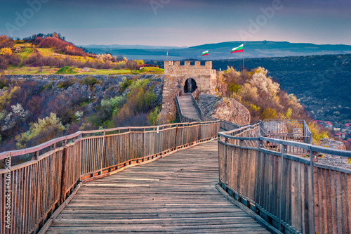 Fotografie, Obraz Wonderful evening view of Ovech Fortress