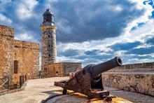 Colonial Castle Of El Morro In Havana, Cuba