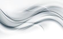 White Wavy Texture. Gray Waves Background. Bright Lines Element Decoration Design.