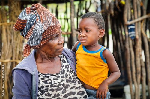 Slika na platnu African old granny
