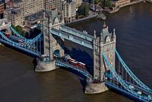 UK, London, Aerial View Of Tower Bridge