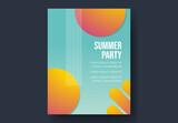 Summer Bright Gradient Poster