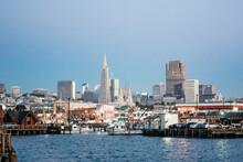Waterfront And City Skyline, San Francisco, California, USA