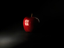 Reflection Of A Window In A Red Apple