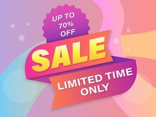 Sale Banner Template Design. Up To 70% Off. Limited Time Only
