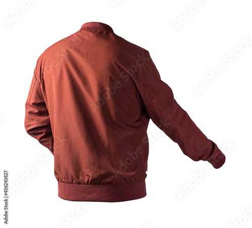 bomber jacket isolated on white background Fototapet
