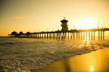 Huntington Beach Pier In California