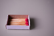 Closeup Shot Of A Box With Matches