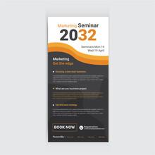 Marketing Seminar DL Card Template And Digital Soulation Dl Flyer Design