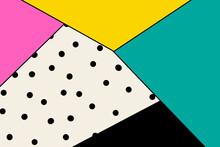 Abstract Triangle Colorful Modern Polka Dot Wallpaper