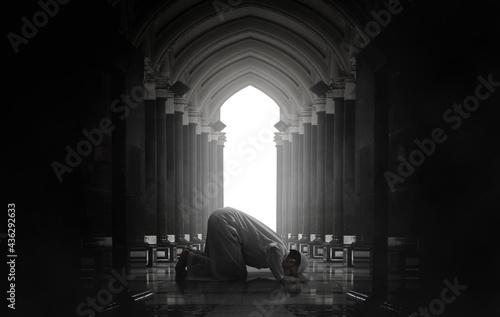 Fotografie, Obraz Religious asian muslim man praying