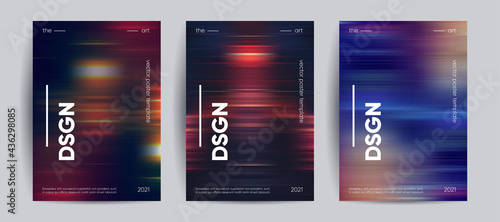Abstract covers with Motion gradient. Blurred colors vector background.