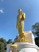 Phra Yai Phu Kok Gnew (Big Buddha) Is A Buddha Image In The Form Of A Graceful Pang Of Blessing At Kok Gnew Mountain In Chiang Khan, Loei, Thailand. A Place Everyone In Every Religion Can Be Viewed.
