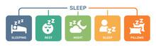 Sleeping Time Icon Vector Illustration.