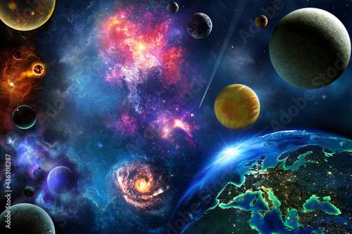 Billede på lærred space cosmos