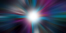 Starburst Colorful Light Beam Abstract Background