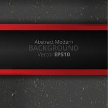 Metallic Black Burgundy Red Line Motion 3d Art Deco Elegant Realistic Geometric Abstract Modern Vector Background Techno
