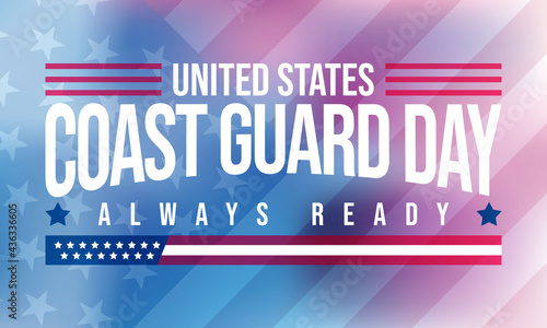 Fotografie, Tablou Vector illustration on the theme of United States Coast guard day, observed every year on August 4th