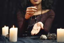 Portrait Of Fortune-teller In A Dark Room