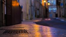 Rues Illuminées Dans Le Centre-ville De Condom, Dans Le Lot-et-Garonne