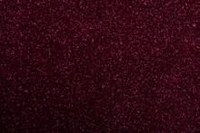 Beautiful Shiny Burgundy Glitter As Background, Closeup