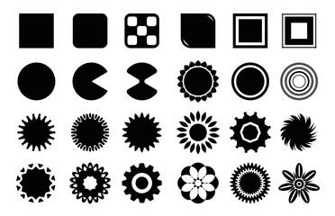 Różnego rodzaju kształty, naklejki oraz nalepki