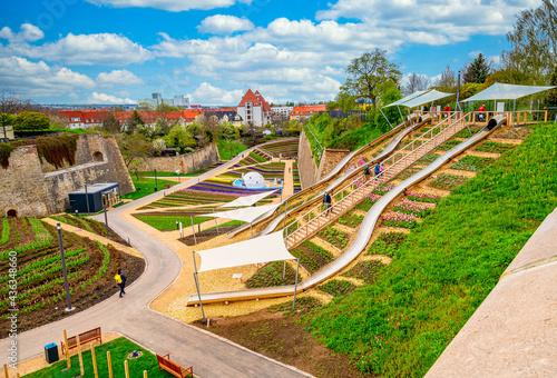 Fotografie, Obraz Bundesgartenschau 2021 in Erfurt.