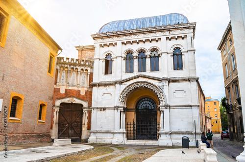 Fototapeta Beautiful street of Padova (Padua), Veneto, Italy