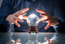 Predicting Future Using Crystal Ball. Fortune Teller