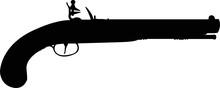 Pirates Pistol Cut File, SVG , Cricut, Silhouette , Vector