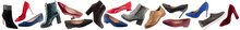 Title. Strip Of Shoes On A White Background. Different Shoes, Advertising Banner. Sale Of Shoes. Header.