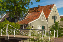 Broek In Waterland, A Small Village Near Amsterdam, With Traditional Old And Painted Wooden Houses, In The Netherlands.