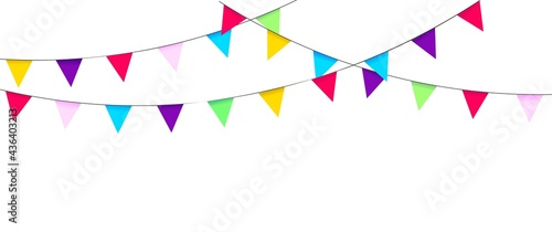 Fotografia Garland with flags