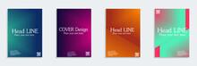 Minimal Covers Design. Cool Halftone Gradients.