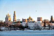 Novodevichy Convent In Moscow In Early Sprin
