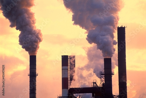 Canvas Print smoke from a chimney